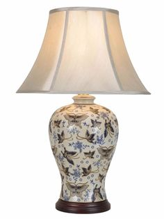 Chinese Porcelain Table Lamp Butterfly Decoration