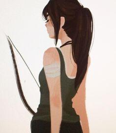 """Not Katniss"" (Lara croft)-Punziella"