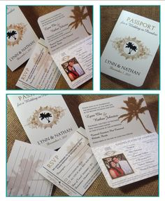 passport wedding invitations template free