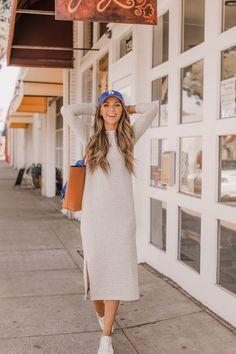 Easy sweatshirt dress DIY | merricksart.com