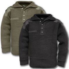 AUSTRIAN ARMY JUMPER, 100% WOOL ALPINE MILITARY MOUNTAIN SWEATER, OLIVE & BLACK