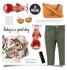 """Be Amazing Every Day"" by marina-volaric ❤ liked on Polyvore featuring Philosophy di Lorenzo Serafini, Chanel, Boohoo, Aquazzura, Ray-Ban and Liberty"