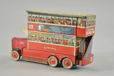 HUNTLEY & PALMERS DOUBLE DECKER BUS