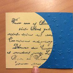 Neutrale Karte, Stampin Up, Prägefolder Stern, Big Shot, Hintergrund Stempel Schrift