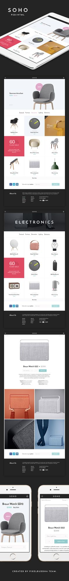 Soho HTML Template - download free html by PixelBuddha