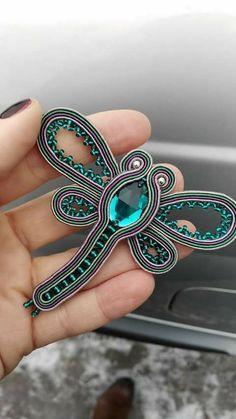 Soutache Pendant, Soutache Necklace, Beaded Earrings, Beaded Jewelry, Handmade Necklaces, Handmade Jewelry, Soutache Tutorial, Bead Embroidery Jewelry, Bridal Earrings