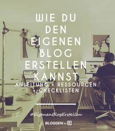 Alles was du über den eigenen Blog erstellen wissen solltest. Wie du einfach deinen eigenen Blog erstellen kannst. Dein eigener Blog mit Anleitung, Ressourcen und Checklisten: einen Blog erstellen. #EigenenBlogErstellen #Bloggen http://www.bloggen.tv/eigenen-blog-erstellen/