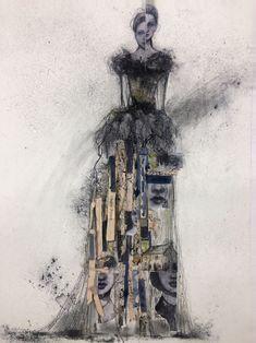 Charlotte Bronte - The Storyteller's Dress by Renee Mueller Lady, Artist Inspiration, Strathmore, Art Classes, Mixed Media Portrait, Book Inspiration, Dancer Poses, Female Characters, Vintage Ephemera