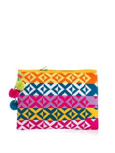 Marilu woven-cotton clutch | Sophie Anderson | MATCHESFASHION.COM  To craft this woven-cotton Marilu clutch, the label collaborated with indigenous Colombian WAYUU weavers, who spend up to 10 weeks handcrafting each piece.