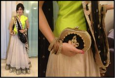 The lovely Amrita Rao carrying a Pinky Saraf clutch to Ekta Kapoor's iftar party last night. #Beautiful