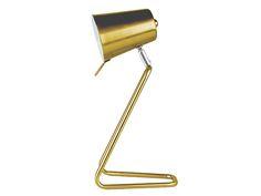 """Present Time - """"Table lamp """"""""Z"""""""""""" - Schicke Tischlampe in gold, ein Highlight für den Schreibtisch"""