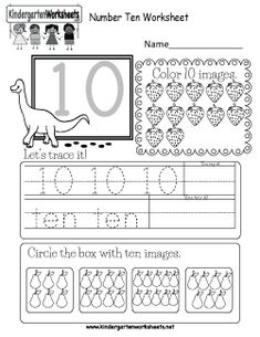 4 Kindergarten Worksheets Phonics 1 This is a fun number 10 worksheet Children can trace the √ Kindergarten Worksheets Phonics 1 . Number Chart 1 10 in Kindergarteen Worksheets Number Worksheets Kindergarten, Numbers Preschool, Learning Numbers, Preschool Math, Worksheets For Kids, Free Printable Numbers, Free Printable Worksheets, Free Printables, Math For Kids