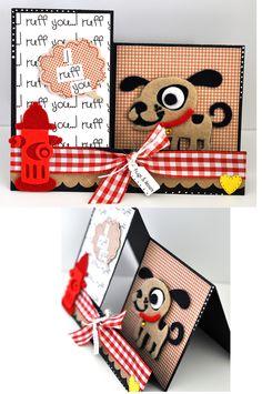 dog step card - Scrapbook.com