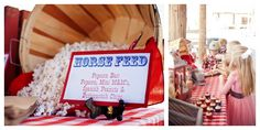 Savvy Styled Sessions & Events: Half Birthday at the Ranch! popcorn bar @Beth Obermeyer - Lizzie Bee Photography
