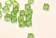 Swarovski Crystal Bicone 4mm Peridot (36 beads) #Swarovski by www.ThisPurplePoppy.etsy.com on Etsy, $3.50