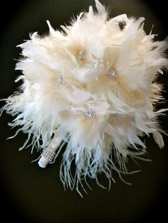 We all think of flowers for a bouquet --but what about feathers?!