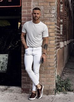153 Best How To Wear White Jeans Men S Fashion Images In 2019