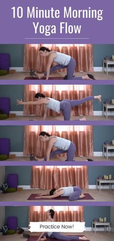 This 10 minute morning yoga routine is perfect for beginners and all levels! Energize and stretch for the day with these quick and effective morning yoga stretches. Click through to practice this class and checkout our full library of online yoga classes on our YouTube channel! Morning workout yoga | stretches in the morning | best yoga online Morning Yoga Stretches, Morning Yoga Sequences, Morning Yoga Flow, Morning Yoga Routine, Morning Meditation, 10 Minute Morning Yoga, Online Yoga Classes, Yoga Challenge, Best Yoga