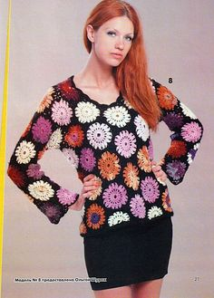 """Chart for this """"Motif Tunic Top""""!"""