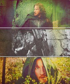 LoTR. Faramir. Shame they dragged his character through the mud, so to speak, but I do love him.