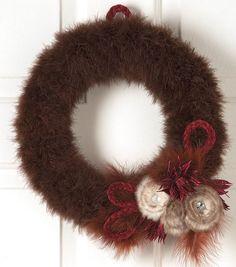 Do ---  Festive Feather Wreath at Joann.com