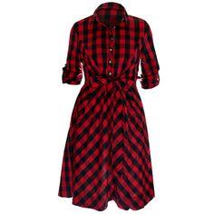 ee16938563b Tie Front A-Line Shirt Dress
