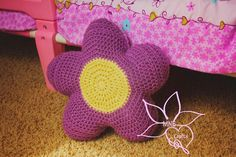 Flower Power Stuffed Pillow