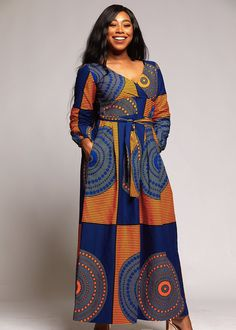African long gown,African print dress,African clothing for women,African wear for women,African outf African Maxi Dresses, African Dresses For Women, African Attire, African Wear, African Style, Ankara Gowns, African Outfits, Ladies Dresses, Wrap Dresses