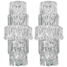 A Mid Century Pair of Large Murano Glass Sconces | From a unique collection of antique and modern wall lights and sconces at http://www.1stdibs.com/furniture/lighting/sconces-wall-lights/
