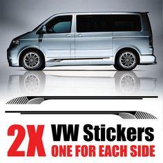 VW Transporter Graphics stripes Camper Van Decals Stickers T4 T5 Caddy rv30 | eBay