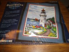 """Paintworks Paint by Number LIGHTHOUSE COVE  #91008  16 x 20"""""""