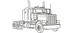 Semi Truck coloring pages free printable   Holidays for April 2010 you may wish to add to your calendar