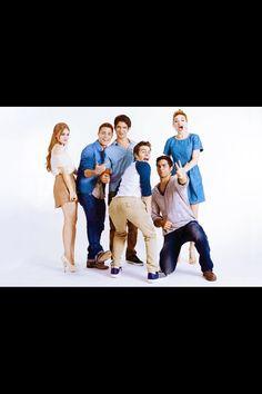 Cast photo shoot
