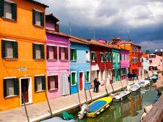 La colorida Isla de Burano, Italia