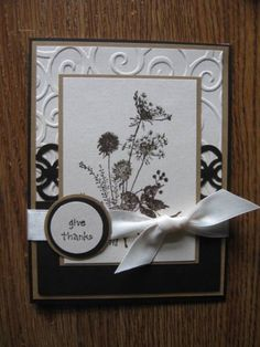Stamps: SU sentiment, Just For Fun image  Paper: MFP - Mahogany, tan, cream  Ink: espresso  Accessories: punches, cb, EF, ribbon