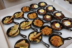 Among the dishes served at the brunch from Design Cuisine were mini skillets that contained corned beef hash, crème brûlée French toast, and scrambled eggs with cheese, peppers, and mushrooms.  Photo: Courtesy of White House Correspondents Insider