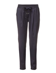DAY - Day Dandy Pinstripes Welt pocket Defining elastic waistband Slightly tapered legs Excellent quality and fit Modern Office wear Practical Simple Office Wear, Welt Pocket, Dandy, Trousers, Sweatpants, Legs, Suits, Simple, Fitness