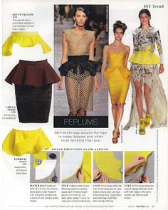 Peplum Belt I love the peplum trend but I know that this trend too shall pass. I saw the peplum belt featured in the Bu. Diy Sewing Projects, Sewing Tutorials, Sewing Patterns, Diy Clothing, Sewing Clothes, Modelista, Creation Couture, Diy Fashion, Fashion Design