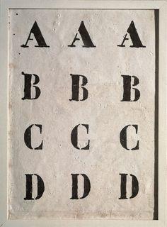 Piero Manzoni, Alfabeto (Alphabet), 1958 ~ Piero Manzoni : arte povera, poesia visiva, installation, performance....