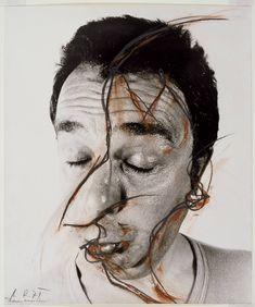 Arnulf RainerA Nose Adjustment (Face Farce) 1971