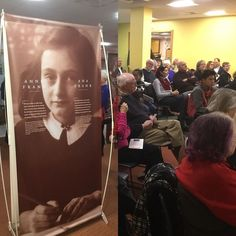 Such a great community response for the opening reception of the Anne Frank: A History for Today exhibit. Didnt make it? No problem the exhibit runs through the rest of the month. #annefrank #otislibrary #otislibrarynorwich #community #travelingexhibit #holocaustremembranceday #communityconversations