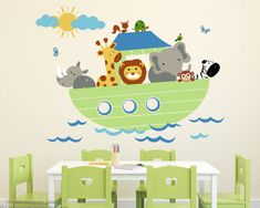 Animal Wall Decals Noahs Ark Inches X Inches Peel And - Wall decals noah's ark