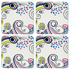 Denby Pack of 4 cream 'Monsoon Cosmic' coasters | Debenhams