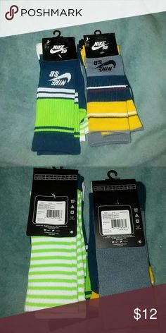 Boys Nike SB socks Brand new  2 packs with 2 pair each.  Shoe size 5y-7y. High Crew Socks NIke SB Accessories Socks & Tights