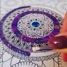 #mandala #art #drawing #design #mandalaart #mandalaartist #wip #zentangle #zenart #zendoodle #doodle #sequins #gems #purple #blue #fineliner #pattern #patterns #detail #intricate #instaart #instaartist #instafollow #4k #wednesday #artvid #artwork #artvideo #video by zaihafizart