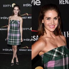 "16.3k Likes, 102 Comments - Alison Brie (@officialalibrie) on Instagram: ""She could be a farmer in those clothes...loved this 90's 'Clueless' moment at the Instyle/HFPA…"""