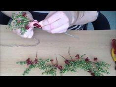 Осенняя рябина. Часть 2/2. Сборка дерева из бисера. Autumn tree out of beads. - YouTube