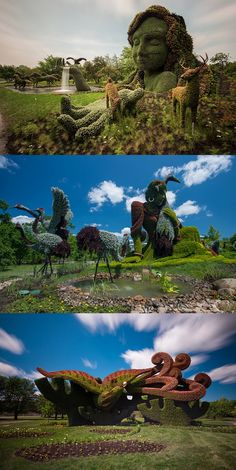 Plant sculptures, Montreal 2013... one of the most amazing garden art projects I've seen.