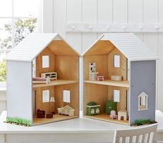 Find toy dolls that your child will love at Pottery Barn Kids. Shop dolls and dollhouses that will entertain them for hours. Playroom Furniture, Baby Furniture, Doll Furniture, Dollhouse Furniture, Minecraft Furniture, Dollhouse Family, Dollhouse Kits, Wooden Dollhouse, Homemade Dollhouse