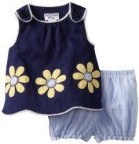 Hartstrings Baby-Girls Newborn Woven Top And Short Set